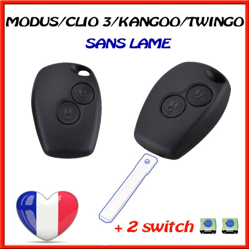 coque cle renault clio 3 modus twingo 2 master kangoo 2 switch stockoautopieces. Black Bedroom Furniture Sets. Home Design Ideas