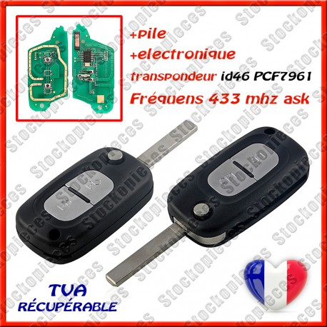 CLE VIERGE RENAULT CLIO 3 PCF7961