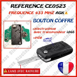 CLE VIERGE 0523 BOUTON COFFRE LAME HU83  ASK