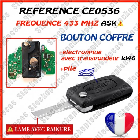 CLE VIERGE CE0536 COFFRE HU83 ASK