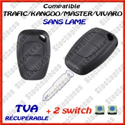 COQUE CLE COMPATIBLE RENAULT OPEL + 2 SW